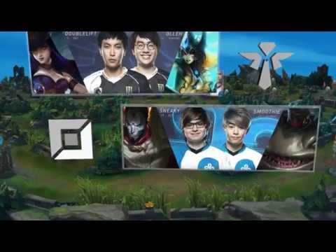 TL (Doublelift Caitlyn) VS C9 (Sneaky Jhin) Game 1-2018 NA LCS GAME