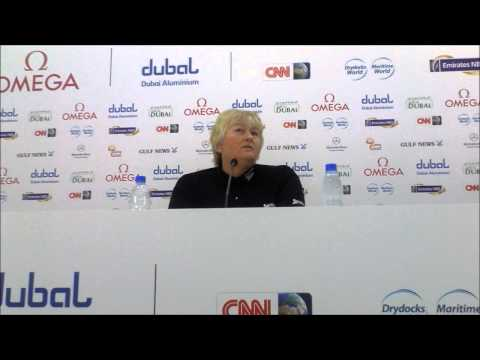 Laura Davies talking about Charley Hull ahead of the 2013 Omega Dubai Ladies Masters