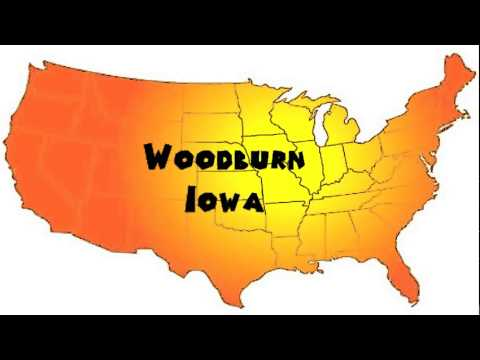 How to Say or Pronounce USA Cities — Woodburn, Iowa