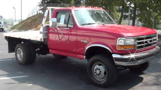FOR SALE 1995 FORD F-350 XLT FLAT BED DUALLY 4X4 ONLY 113K