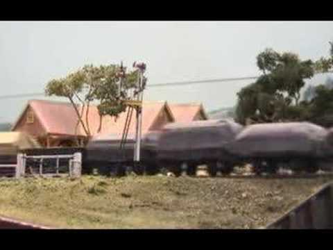Dungog NSWGR - Part 1 - Australian Model Railway Layout - AD60 on freight train