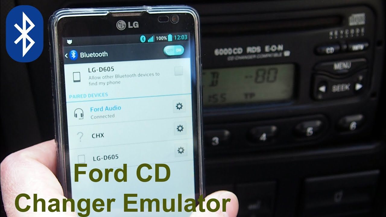 ford cd changer emulator with bluetooth functions. Black Bedroom Furniture Sets. Home Design Ideas