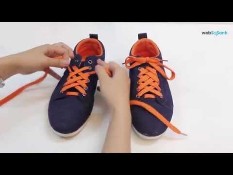 hướng dẫn - buộc dây giày cực đẹp , cực đơn giản kiểu kim cương