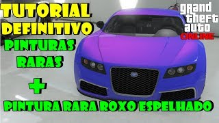 GTA 5 Online: Pinturas Raras Tutorial Definitivo + Adder