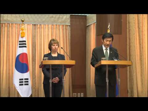 Catherine Ashton visits the Republic of Korea on 23 May 2014