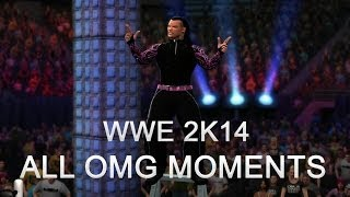WWE 2K14 All OMG Moments & Extreme(Undertaker Vs Jeff