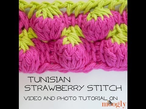 Different Crochet Stitches Youtube : How to Crochet: Tunisian Strawberry Stitch - YouTube