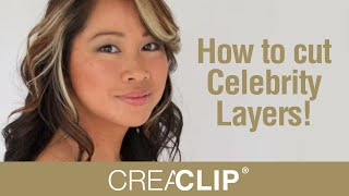 How To Cut Celebrity Layers! Layer Cut Your Own Hair