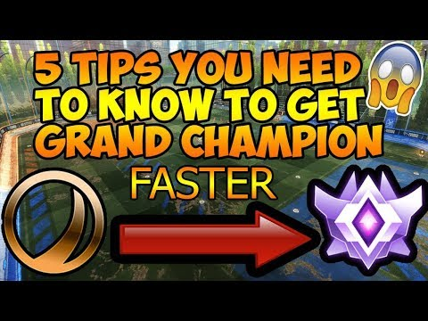 5 More Tips To Get GRAND CHAMPION Faster in Rocket League! Part 2 :)