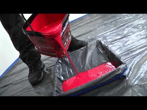 Śnieżka - część 4. Film instruktażowy Śnieżka Satynowa - gruntowanie ścian farbą lateksową farbą gruntującą.