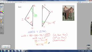 Geometry - 4.2 - Congruence and Triangles