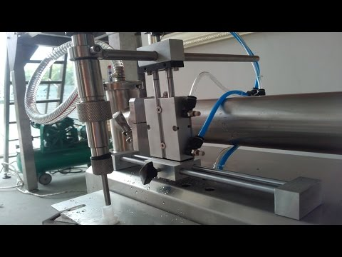 spout bags filling machine double heads fully pneumatic trial run video liquid filler semi automatic