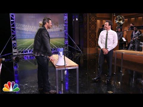 Random Object Football Toss with Blake Shelton