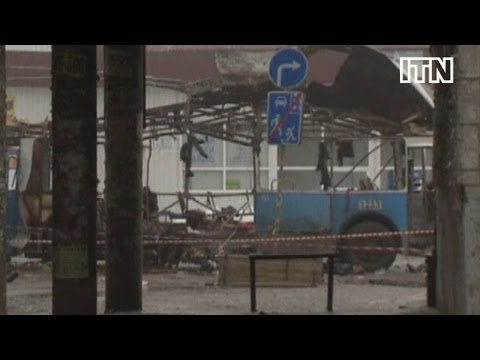 Aftermath shows devastation caused by bomb blast in Volgograd