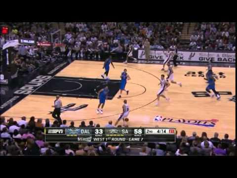 Manu Ginobili 20 Points 6 Steals 5 Assists Playoffs Spurs vs Mavericks R1G7 (5.4.2014)