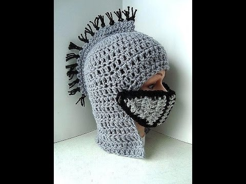 DIY knights helmet hat free crochet pattern, King Arthur ...