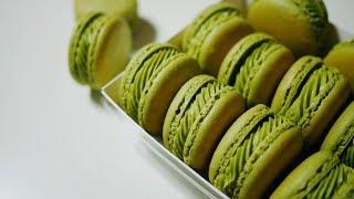 🌿 녹차 마카롱 만들기 Green tea Macaron | 한세