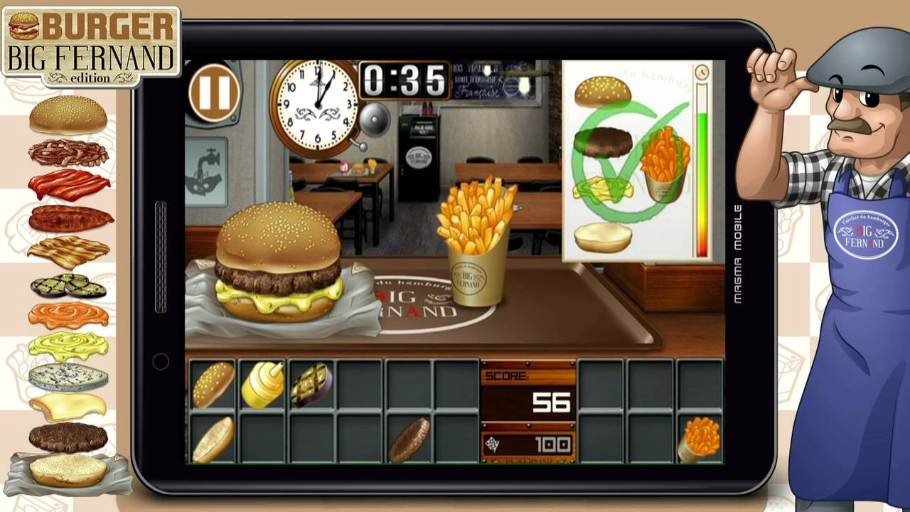burger big fernand android iphone ipad and windows phone game youtube. Black Bedroom Furniture Sets. Home Design Ideas
