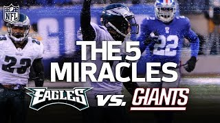 The Eagles 5 Miracle Wins vs. the Giants | NFL Vault Stories