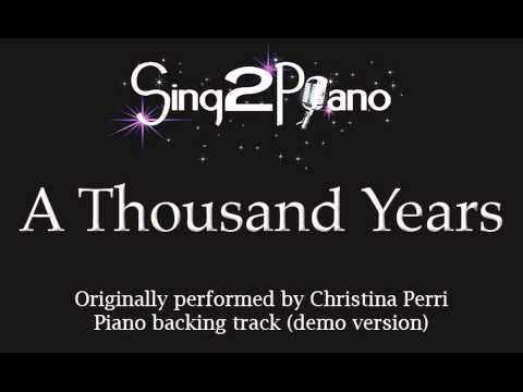 A Thousand Years - Christina Perri (Piano backing track) karaoke cover