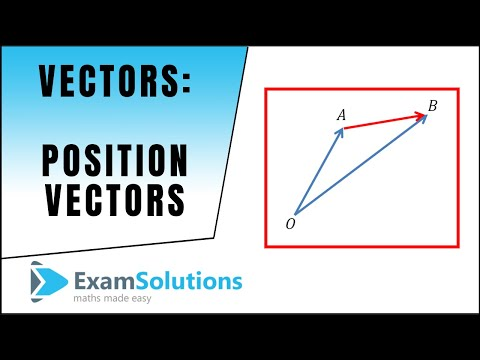 Vectors : Position Vectors : ExamSolutions