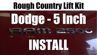 Rough Country Dodge Ram Lift Kit Installation Tutorial