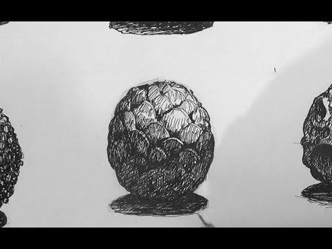 Pen and Ink Texture Challenge | How to draw a dragon egg