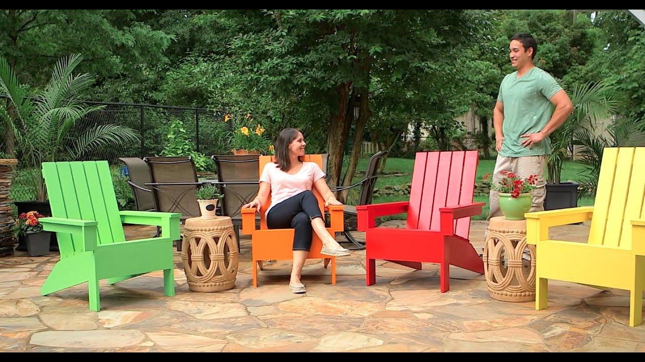 C mo construir una silla de jard n adirondack youtube - Sillas de plastico jardin ...