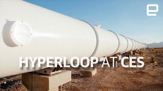 Hyperloop test track tour at CES 2018