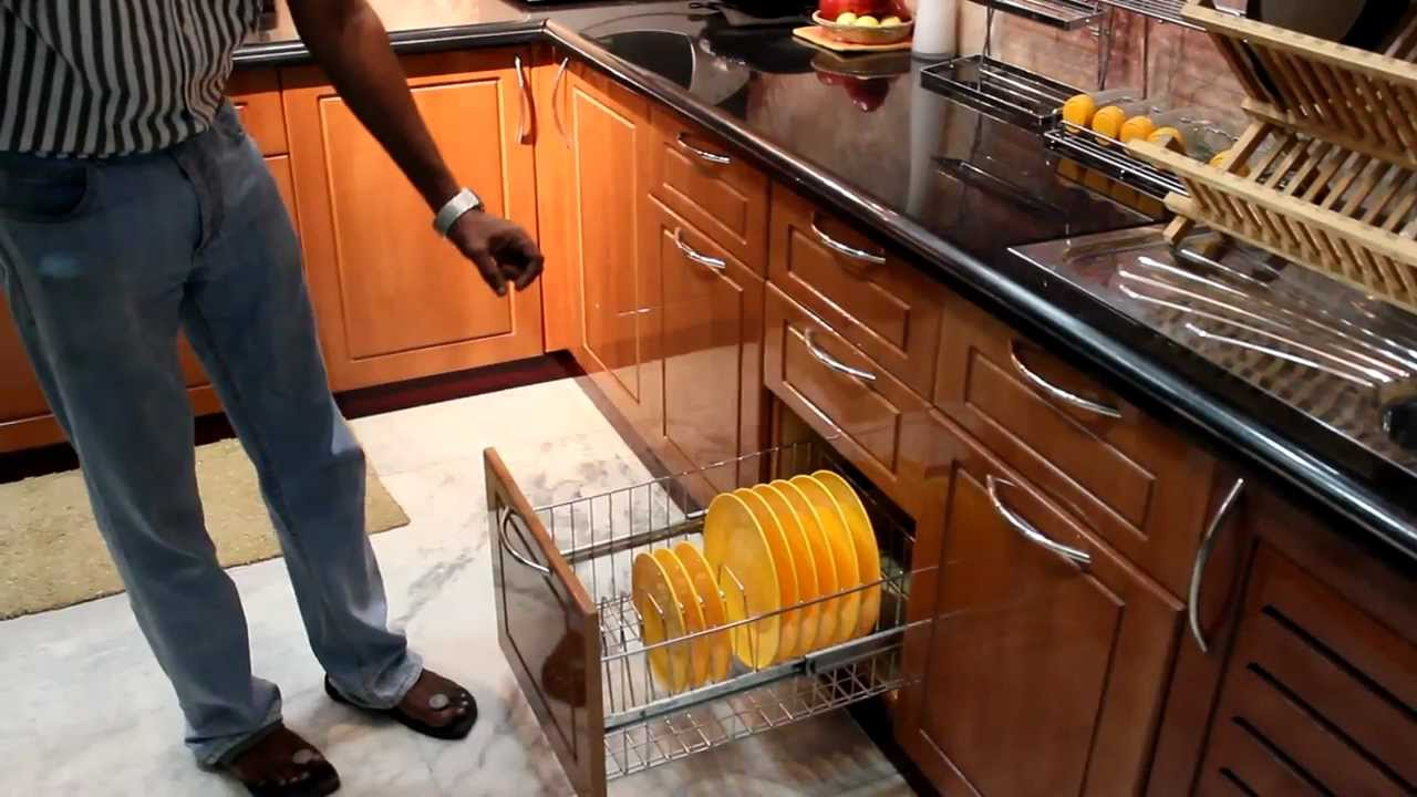 Modular kitchen indian context accessories youtube for Modular kitchen trolley designs