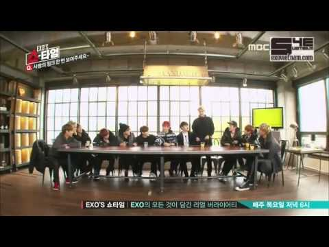 (Vietsub) EXO SHOWTIME ep1 Sehun wink