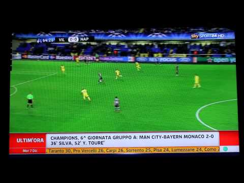 Villareal-Napoli 0-2 SKY HD - Ampia Sintesi - Highlights - All Goals - Champions League 2011-2012