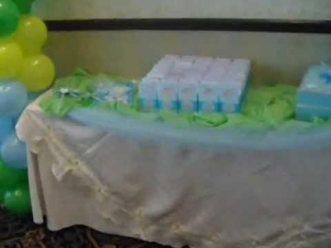 Manos artisticas anriocs decoracion baby shower ni o - Decoracion para baby shower nino ...