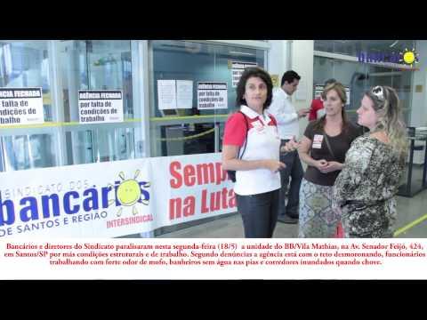 Agência do BB em Santos é paralisada por falta de condições de trabalho