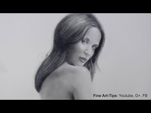 How to Paint With Dry Brush - Emily Blunt Dry Brush Portrait