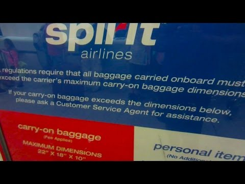 Flying Spirit Airlines w/ Osprey Porter 46 Backpack - Personal Item