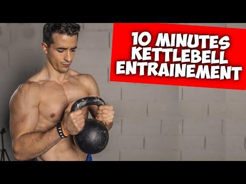 10 minutes kettlebell entraînement pour renforcer tout votre corps !
