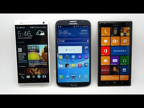 HTC One Max vs Samsung Galaxy Mega vs Nokia Lumia 1520