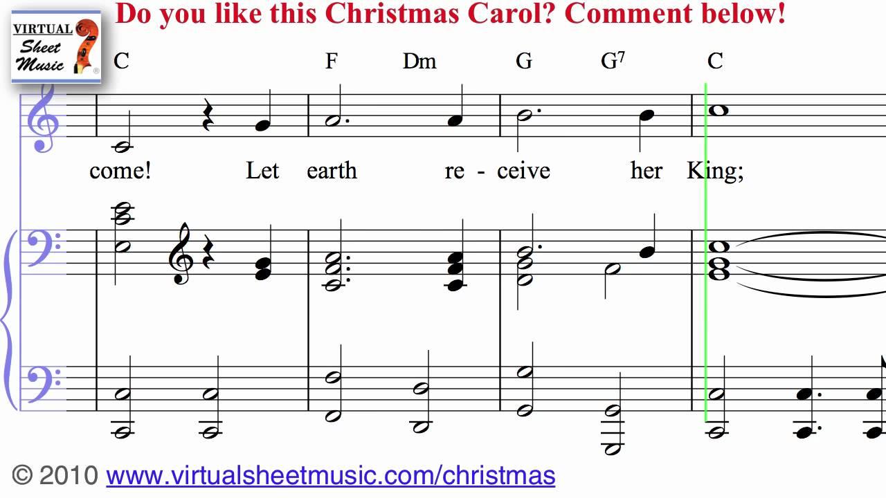 Joy to the World Sheet Music and Carol - Christmas Sheet Music Video Score - YouTube