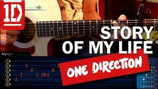 Como tocar Story of my Life - ONE DIRECTION - en Guitarra Acustica (HD) Tutorial