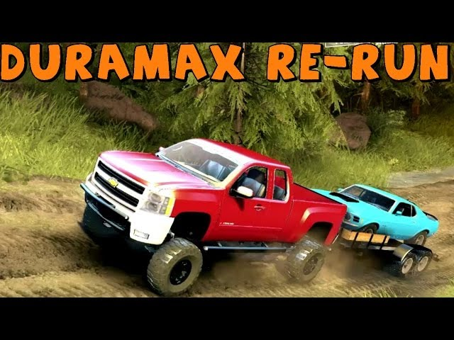 Spin Tires | Trailer Towing Challenge | Chevy 2500HD Duramax | Re-Run/Re-Do