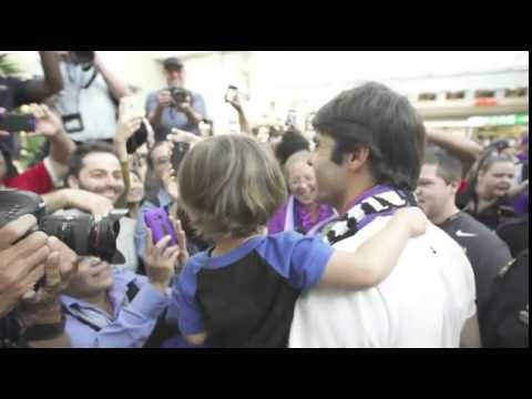Kaka greeted by fans after signing for MLS side Orlando City