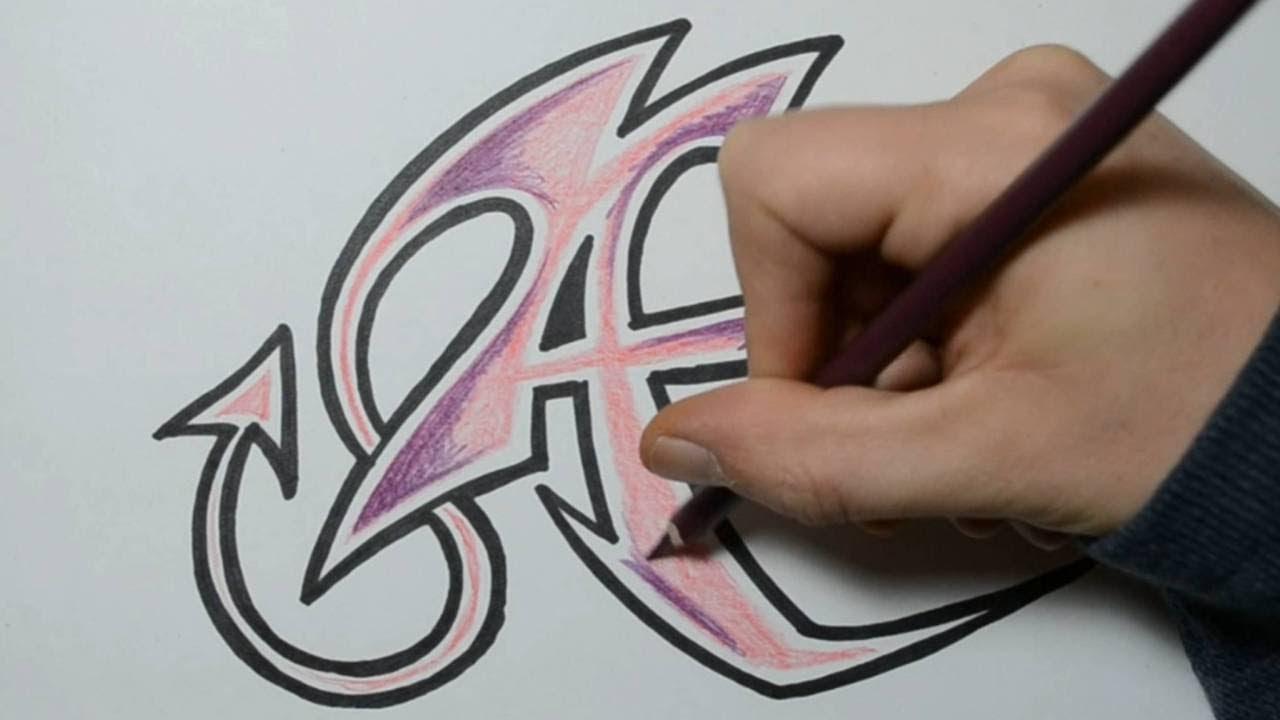 How to Draw Wild Graffiti Letters - A - YouTube | 1280 x 720 jpeg 67kB