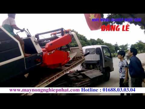 Bán máy gặt Kubota DC 68G Thái lan đi Lạng Giang Bắc Giang Máy gặt Đăng lê giá rẻ nhất Miền Bắc