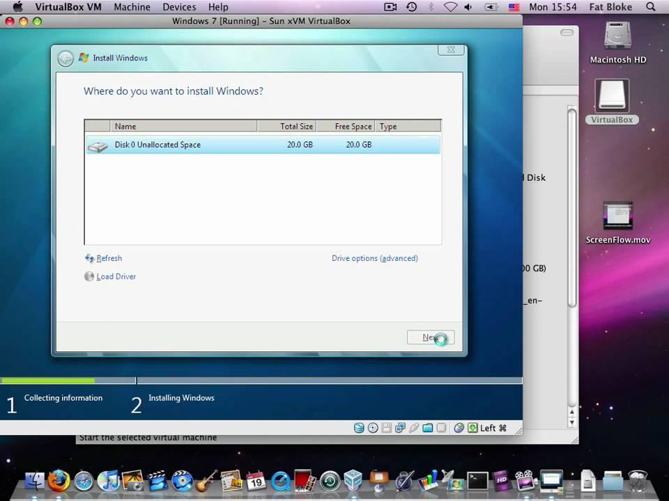 creating a machine in windows 7