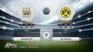 FIFA 14 DEMO GAMEPLAY #1 BVB Vs MAN CITY Gamescom 2013