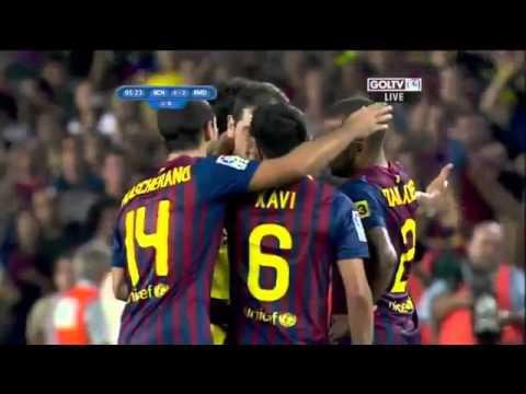 Barcelona vs Real madrid 3-2 Mesut Ozil Fight David villa