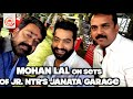 Jr NTR, Mohanlal on the sets Janatha Garage..