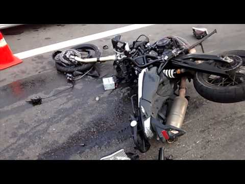 Acidente fatal com moto BMW 800 roubada