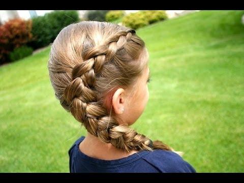 Same-Side Dutch Braid   Medium Hairstyles   Cute Girls Hairstyles